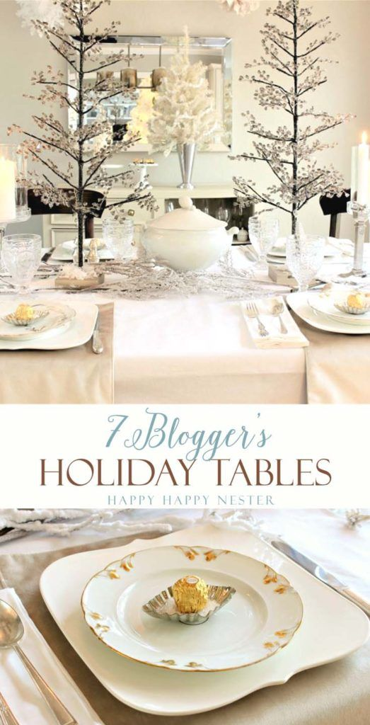 Seven gorgeous holiday tablescape ideas to inspire you for your dining room table. Enjoy our blog hop with these talented bloggers.