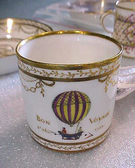 This is an angouleme porcelain cup, on display at the Udvar-Hazy Center in Chantilly, VA. #balloon #worldcup