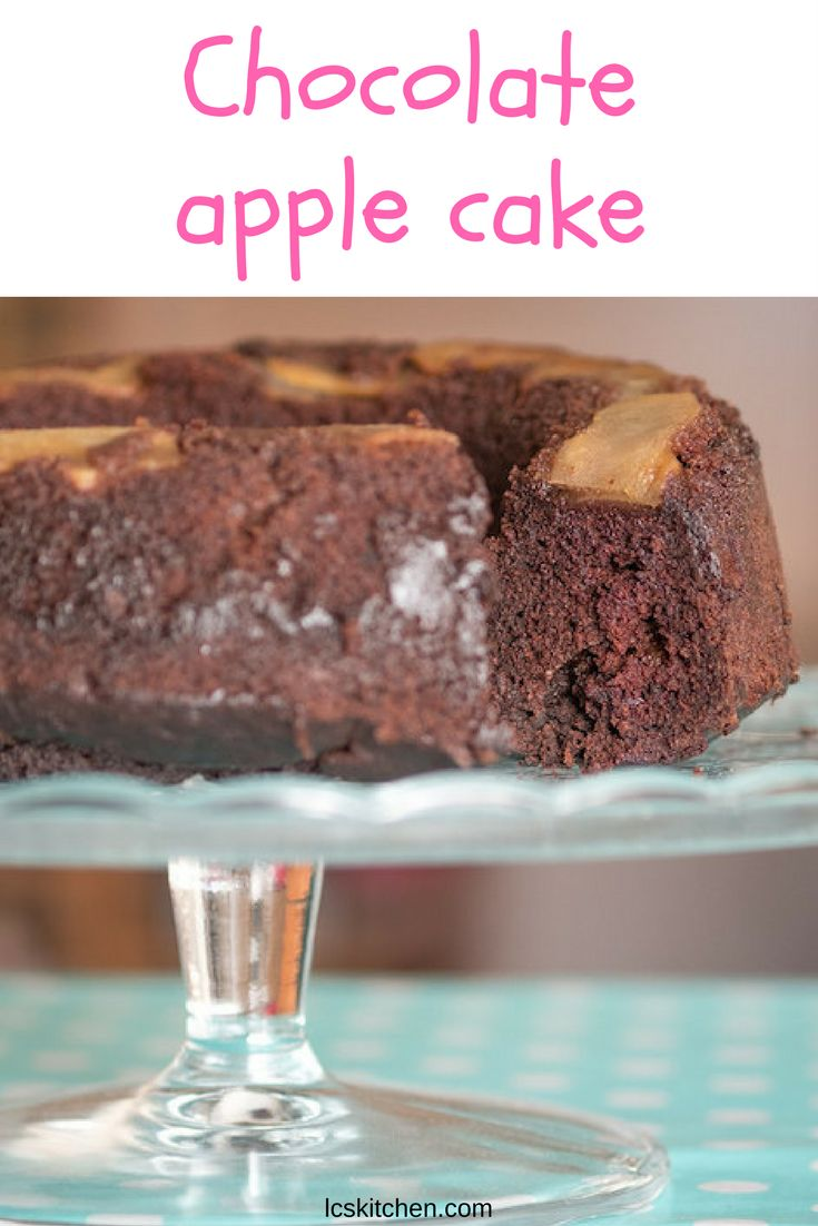 Chocolate apple cake: easy, quick and delicious recipe! #italianfood #applecake