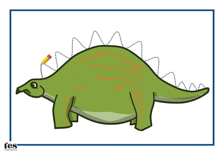 A set of activities, designed to be laminated and used with a dry wipe marker. Designs include drawing the spikes on a dinosaur and the wheels on a car. Use them to help pupils develop pencil skills. Suitable for workstation use.
