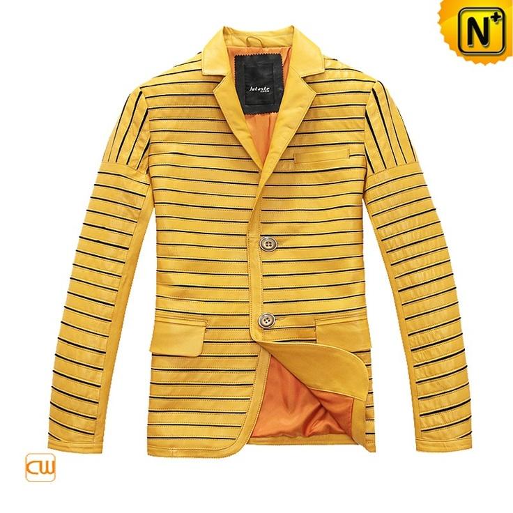 Cool Leather Blazer Jacket Men Leather Blazer Jacket CW866829 $578.78 - www.cwmalls.com