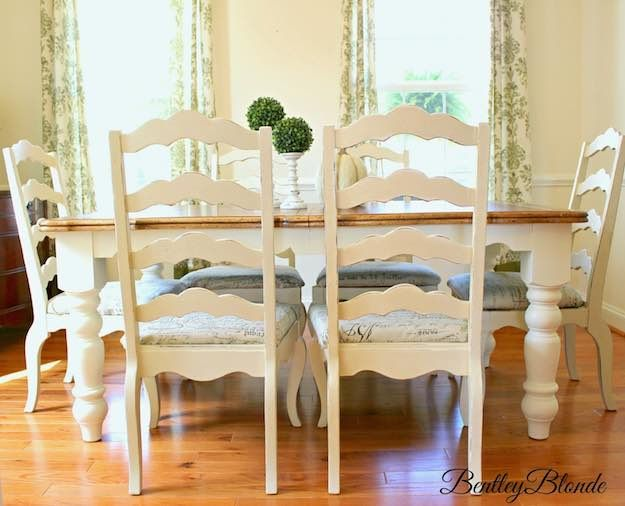 Chalk Paint | Discount Dining Room Sets: Make Your Own With These DIY Projects  Read the rest here: http://livingroomideas.com/diy-discount-dining-room-sets/