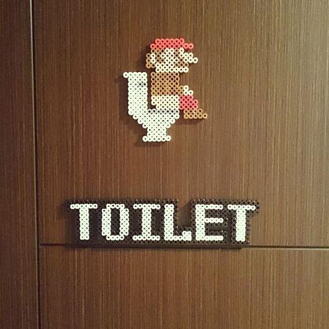 女性で、のこどもと暮らす。/アイロンビーズ/バス/トイレについてのインテリア実例を紹介。「長男作☆トイレプレート   」(この写真は 2016-02-26 17:44:02 に共有されました)