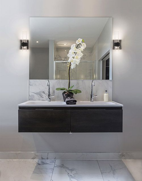 Vanity Lights Shine Up Or Down : Stunning #contemporary LED two light wall sconce with up and down lights which shine elegantly ...