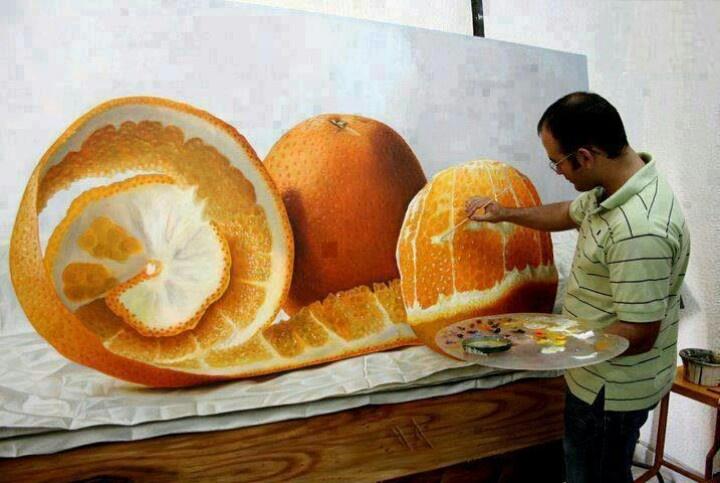 #realistic #art #omarortiz #orange