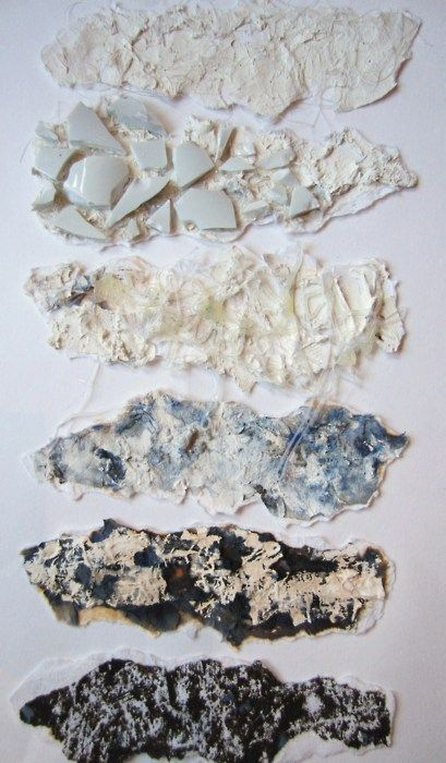Textile Samples - mixed media surface experiments with different pattern & texture effects - knitwear design development; fabric manipulation // Lois Albinson