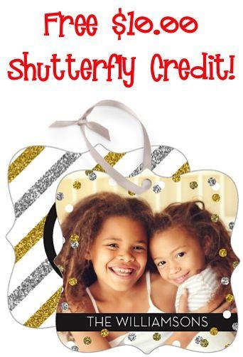 FREE $10.00 Shutterfly Credit!!