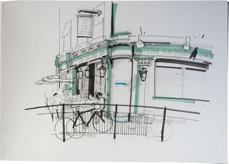 The Victoria Inn - Bellenden Road by Lindon Hayes #illustrazione #disegno