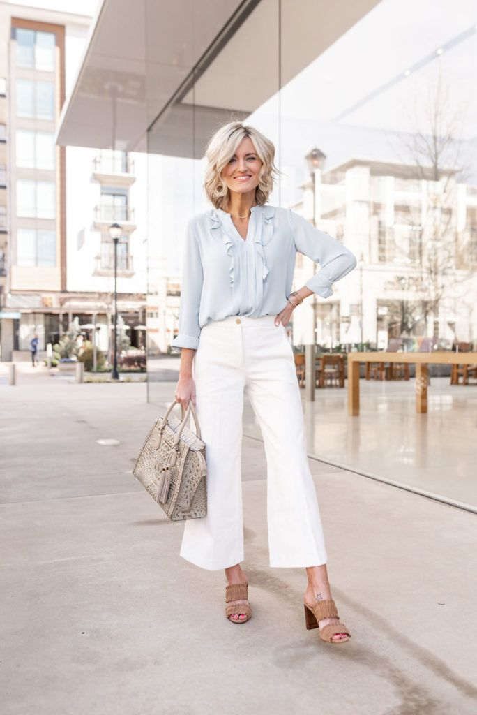 White Pants for Work – Work Wear Wednesday | Work outfits women, Summer work  outfits, Work outfit
