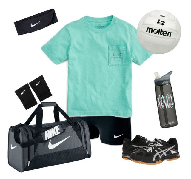 """Sunday: Volleyball practice"" by mollenkopfg on Polyvore featuring NIKE, Vineyard Vines and Asics"