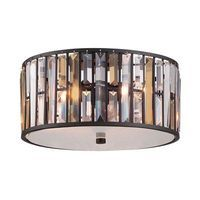 Plafonnier Gemma 3x100W - Bronze Noir Boutica-Design