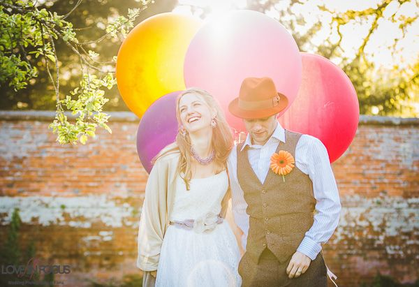 Linda and Paul's fabulously creative alternative Berkshire wedding, with Love in Focus Photography | http://english-wedding.com/2014/06/creative-alternative-berkshire-wedding/