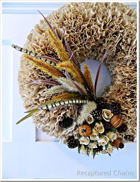 Fall Coffee Filter Wreath 012a