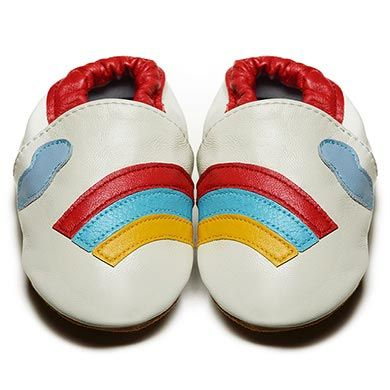 Rainbow Dazzles - Soft Sole Baby Shoes | Fox & Frog I FREE SHIPPING Australia Wide