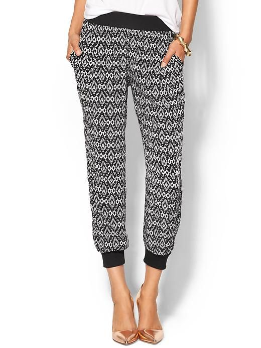 Sabine Margo Printed Soft Pant - Black/white