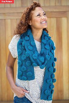 Вязаные шарфы спицами