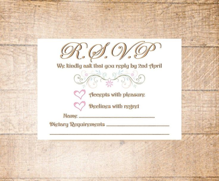 RSVP Wedding Cards by LoobyDooLetters on Etsy