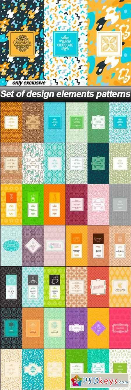 Set of design elements patterns - 15 EPS