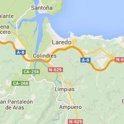 Mapa ampliado de Laredo a Castro Urdiales - Calcular Ruta