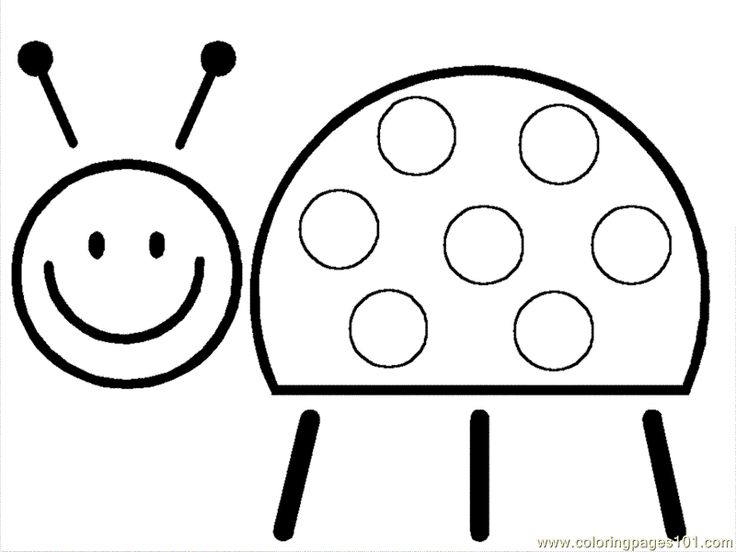 Coloring Pages Smiling Ladbugs (Insects > ladybugs) - free