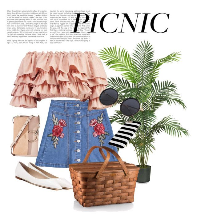 """""""Pretty in Picnic"""" by cosomica on Polyvore featuring Nearly Natural, Boohoo, Jimmy Choo and Chloé"""