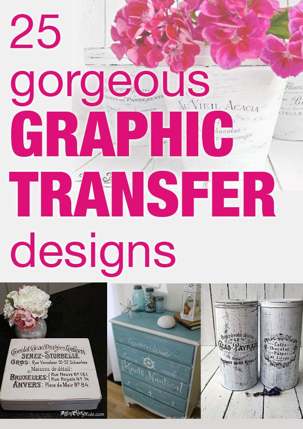 25 gorgeous graphic transfer designs