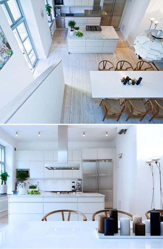 Underbart kök med marmor
