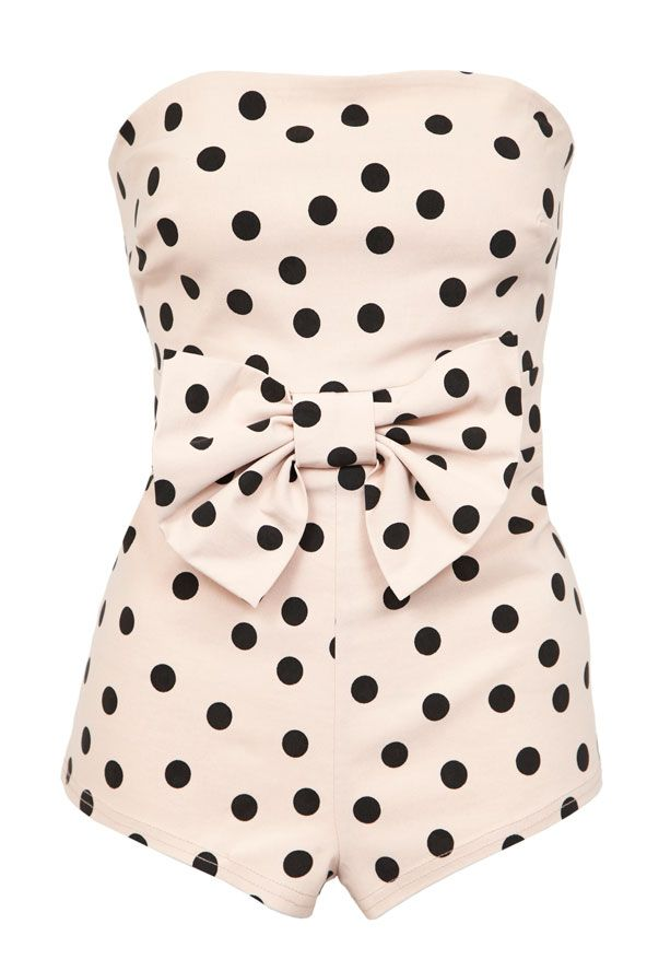 A new Favorite! Love this vintage one-piece polka dot bathing suit! Retro Swimwear:: Sexy Polka Dot One Piece:: Pin Up Style:: Pin Up Swimwear
