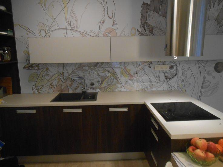 Glass splashback, sklenená kuchynská zástena #glass #splashback #kuchynskazastena #zastenadokuchyne #kuchynskezasteny #zastenyzoskla http://www.interiersklo.eu/kuchynske-zasteny/