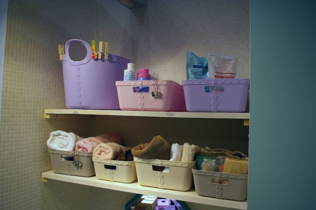 France Basket - Craft medium rose / violet 2個set - bonbon 外国の子供雑貨*お洋服を集めた子供部屋をイメージしたお店