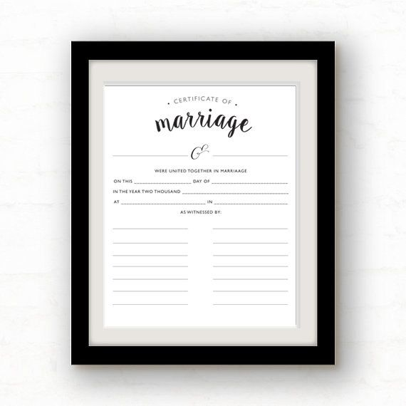 Guestbook Marriage Certificate  Printable Wisdom by kcrookdesign