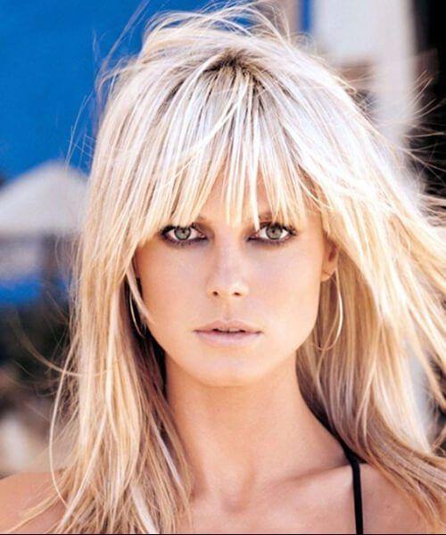 Heidi Klum Hairstyles For Women Over 40 Hair In 2019 Long Hair