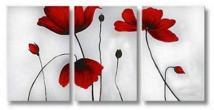 Diseños Para Pintar Cuadros Fáciles de Flores | Imágenes Arte Temático