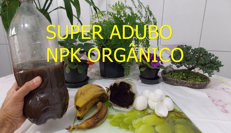 SUPER ADUBO NPK ORGÂNICO LÌQUIDO. ( passo a passo como fazer)