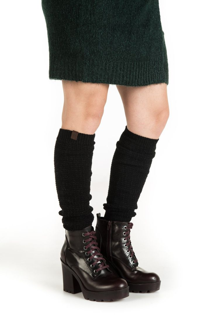 Marino Women Long Knit Winter Leg Warmers Knee High Boot ...