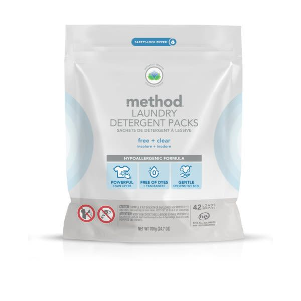 Method - Laundry Detergent Packs - Free + Clear