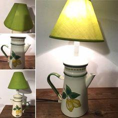 La cafetière émaillée verte  par lampesoriginales .com