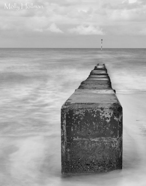 Minnis Bay - a groyne  www.stnicholasphotography.co.uk