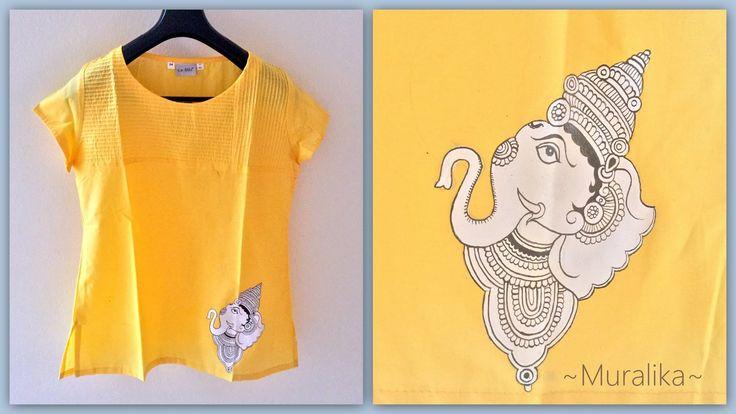 Kalamkari Ganesha on Kurta