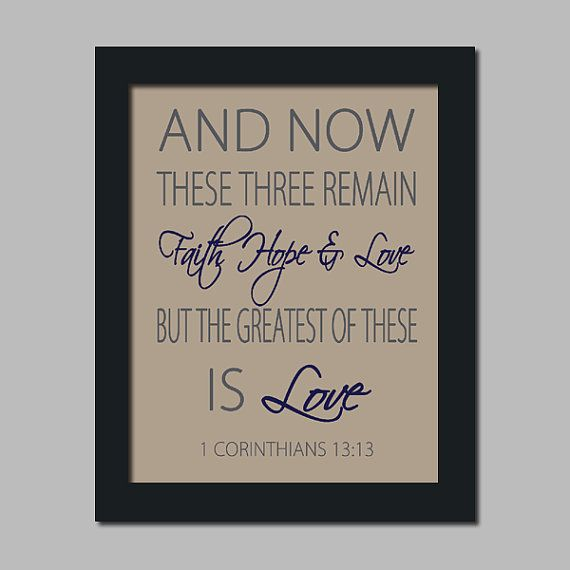 Scripture Wedding Bible Verse Faith Hope Love by LovelyFaceDesigns, $23.00