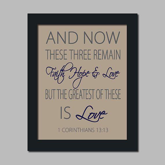 Scripture Wedding Bible Verse Faith Hope Love by LovelyFaceDesigns, $23.00