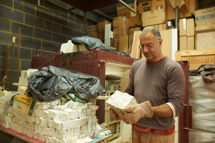 Sculptor Fernando Casasempere in his studio inLondon