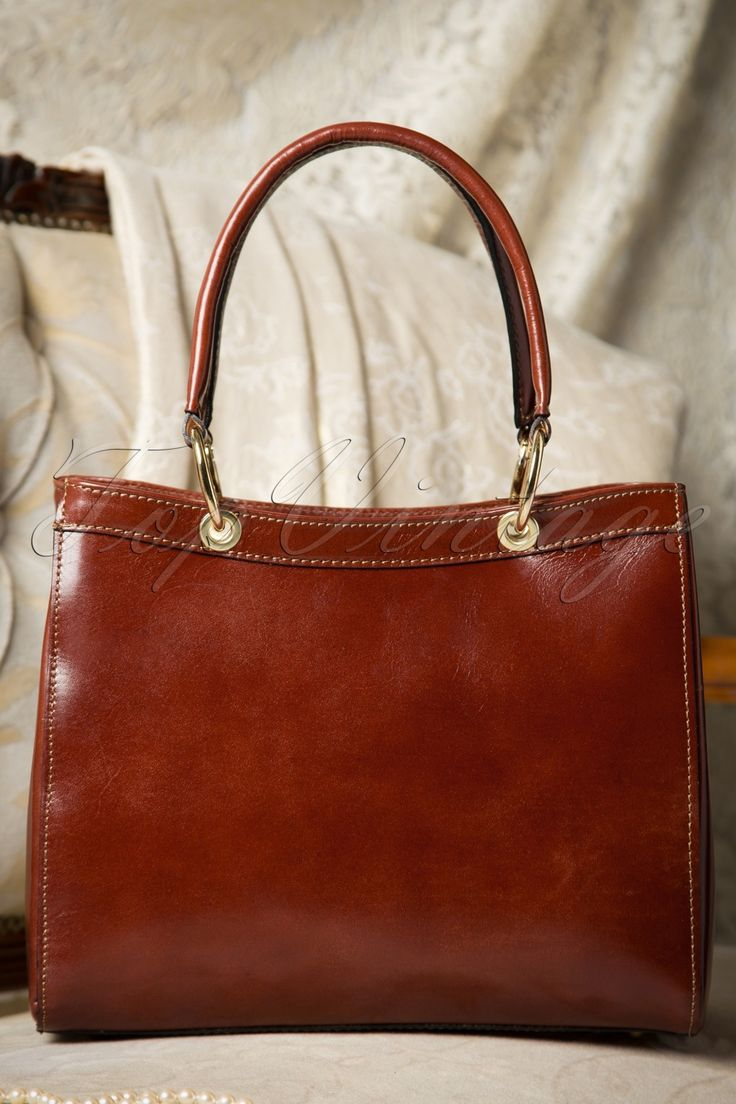 60s Sadie Classy Brown Leather Handbag