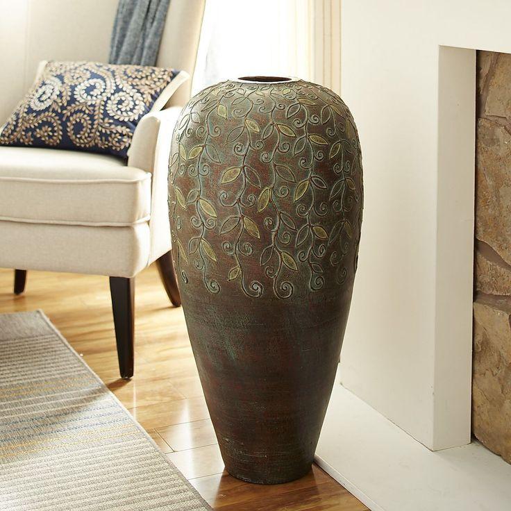 Scroll Leaves Terracotta Floor Vase Pier 1 Imports