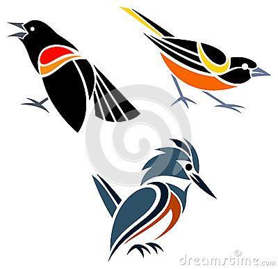 Stylized birds by Elena Belous, via Dreamstime