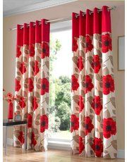 Harper poppy curtain