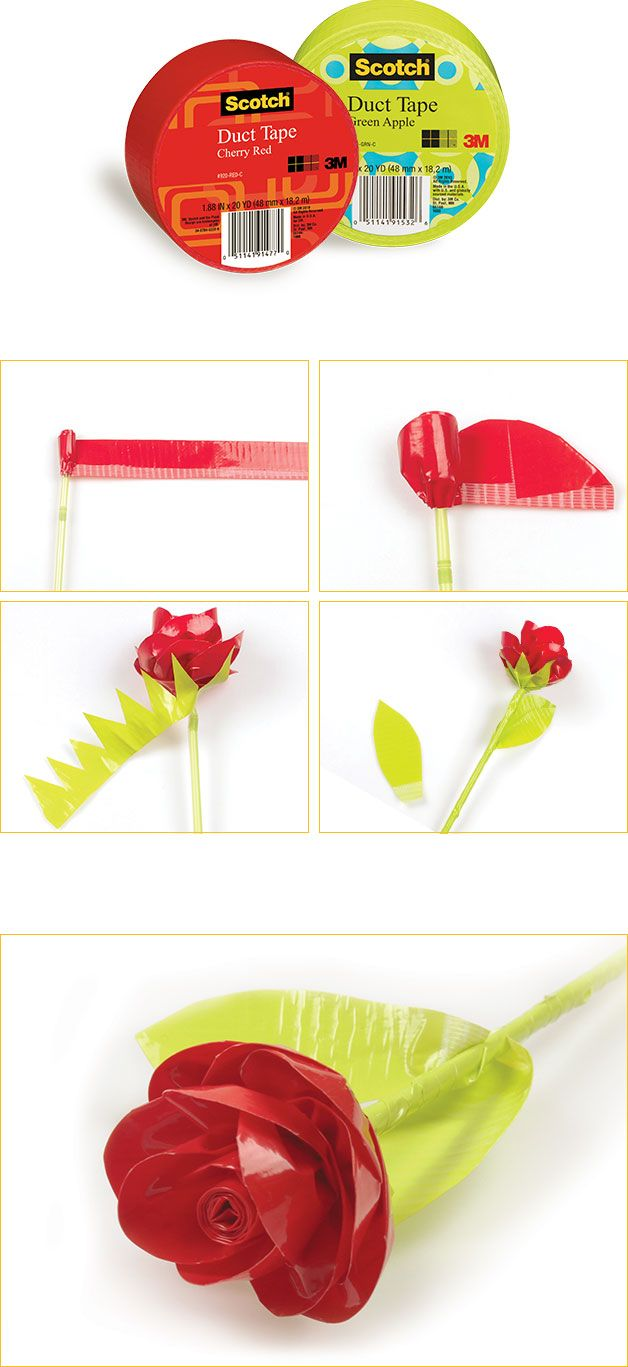 Get ready for the month of love by making flowers that last longer! http://ducttape.scotchbrand.com/wps/portal/3M/en_US/ScotchDuctTape-NA/Scotch/Projects/Make-It/Rose/