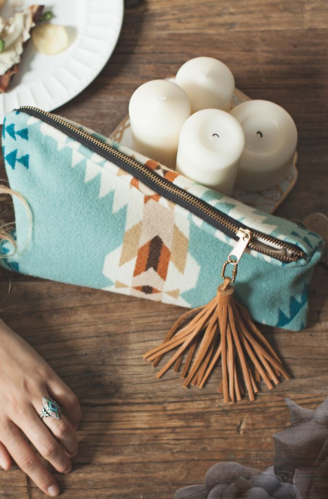 beautiful clutch zipper pouch