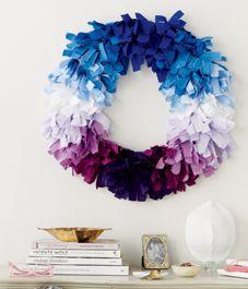 DIY project: Fabric strip wreath