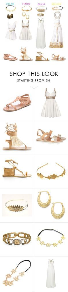 """""""The Clique- Toga Party"""" by daniellenicole ❤ liked on Polyvore featuring Ancient Greek Sandals, Isabel Marant, Phase Eight and Witchery"""